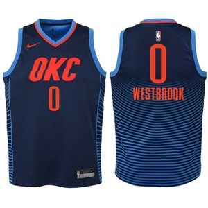 Youth Thunder #0 Russell Westbrook Jersey